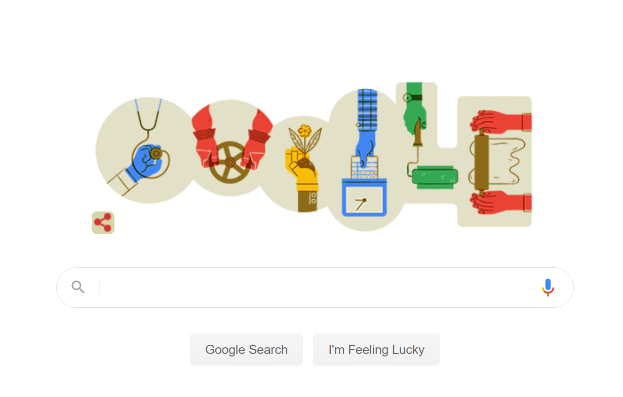 Google Doodle on Labor Day
