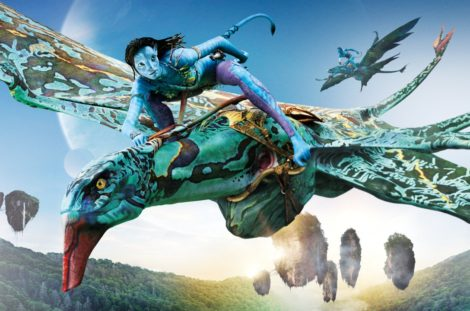 Disney picture of Avatar flying a Mountain Banshee